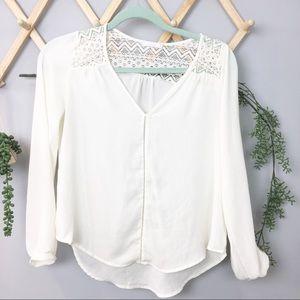LUSH // Cream blouse